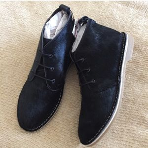 Zara Black Leather Desert Boots. 7/37. New w tags!